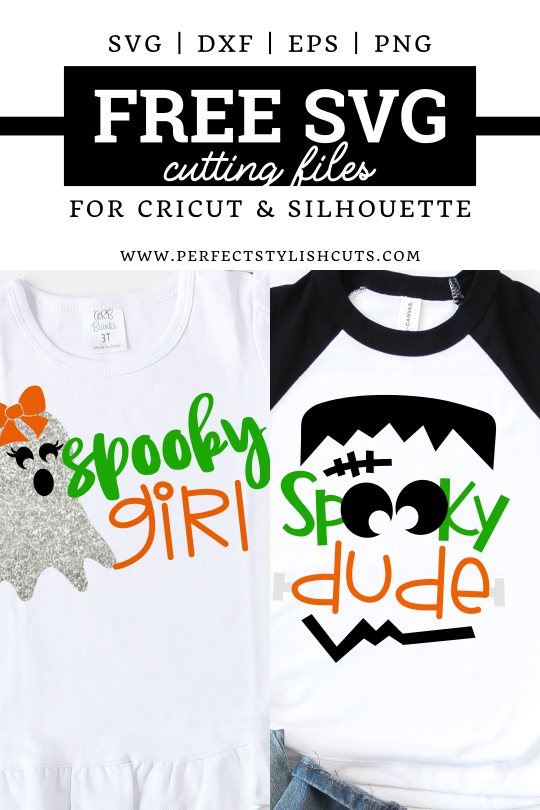 Spooky Girl and Spooky Dude SVG Files for Cricut and Silhouette cutting machines from PerfectStylishCuts.com