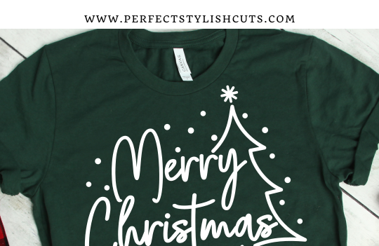 FREE Merry Christmas Tree SVG File