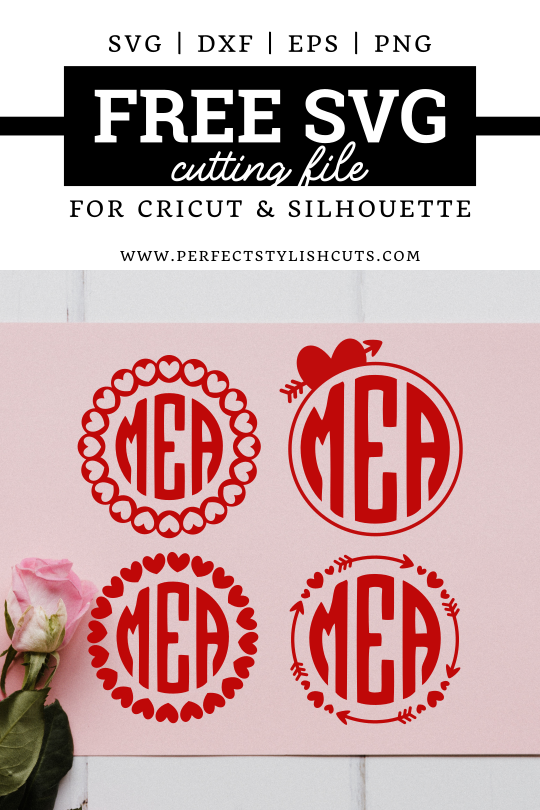 FREE Valentines Day Monogram SVG Files