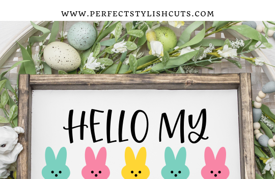 FREE Hello My Peeps Easter Doormat SVG File