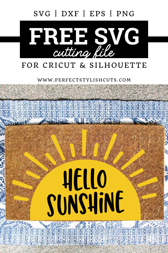 FREE Hello Sunshine SVG File