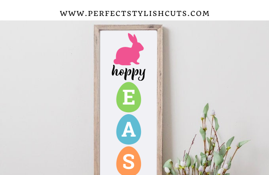 FREE Hoppy Easter Porch Sign SVG File