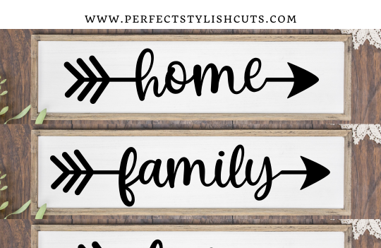 FREE Arrow Words SVG File for Cricut and Silhouette Cameo