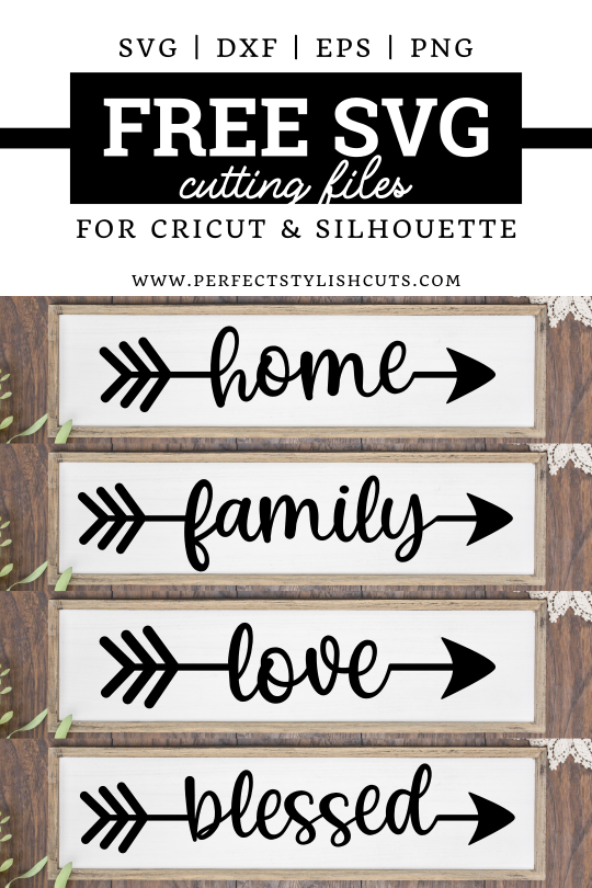 Download this Arrow Words FREE SVG file to create beautiful DIY wood signs and home decor projects with your Cricut and Silhouette Cameo cutting machines.