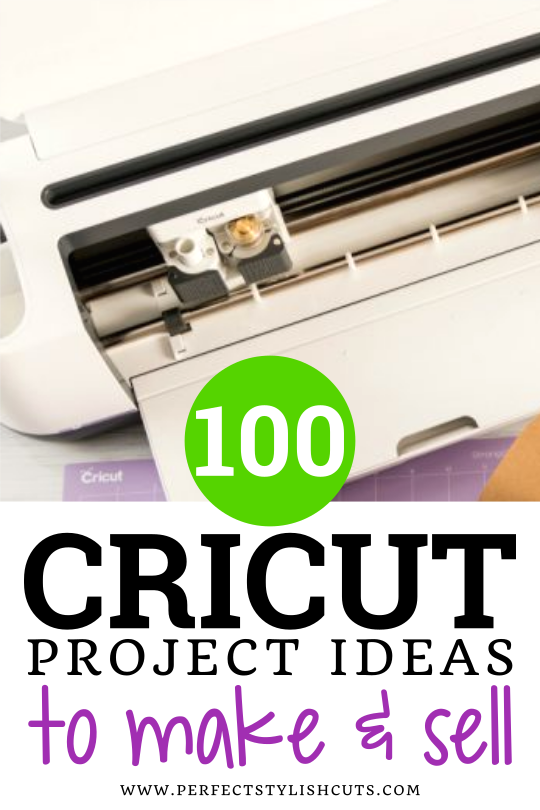 These are 100 Cricut project ideas that you can customize, make and sell with your cutting machine. There's a BIG list of projects so that you never run out of ideas, and a printable list to add to your Cricut binder.