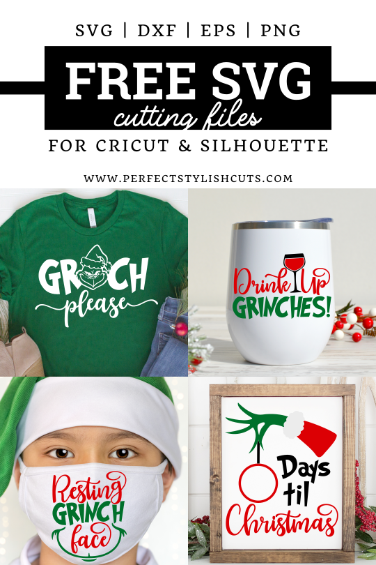 Download 4 FREE Grinch SVG Files for Cricut Christmas Projects - Free Resting Grinch Face Svg, Free Grinch Hand Svg and more.