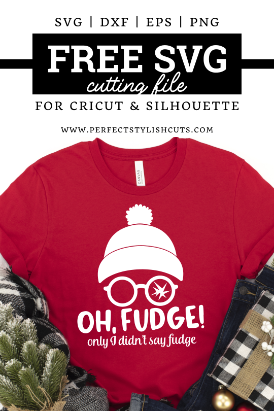 Use this FREE Oh Fudge SVG file from the movie A Christmas Story together with your Cricut cutting machine to make DIY Christmas Movie shirts.